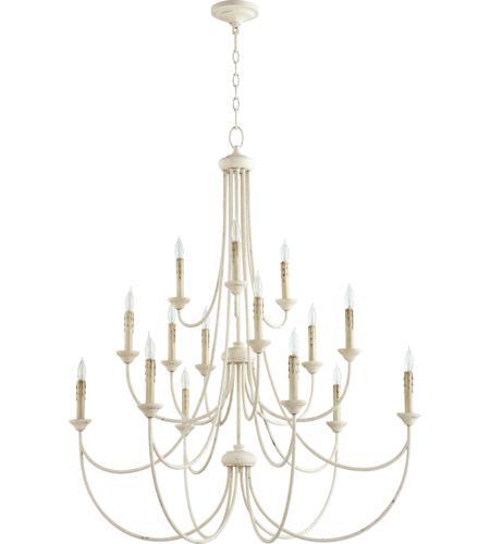 Quorum 6250 15 70 Brooks Light 43 Inch Persian White Chandelier Ceiling
