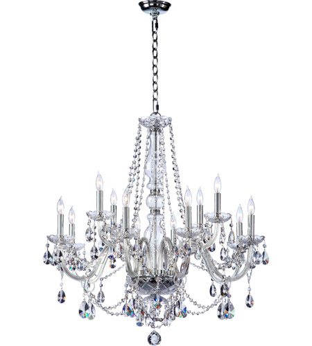 Quorum 630 12 514 Bohemian Katerina Light 26 Inch Chrome Chandelier Ceiling In Clear Crystal