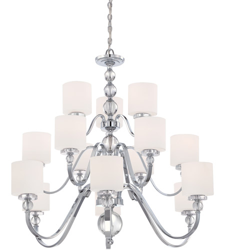 Quoizel Dw5015c Downtown 15 Light 44 Inch Polished Chrome Chandelier Ceiling Photo