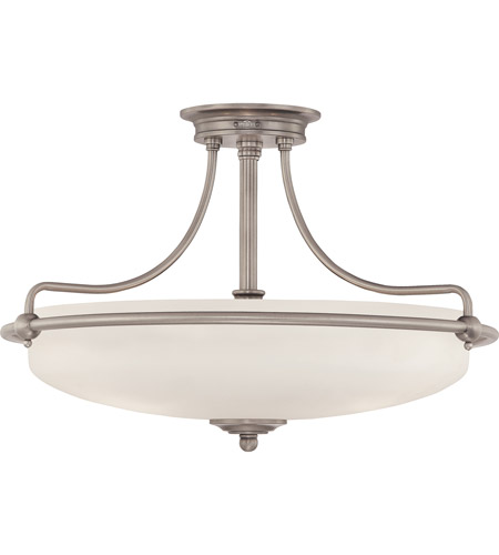 quoizel gf1721an griffin 4 light 21 inch antique nickel semi flush mount ceiling light