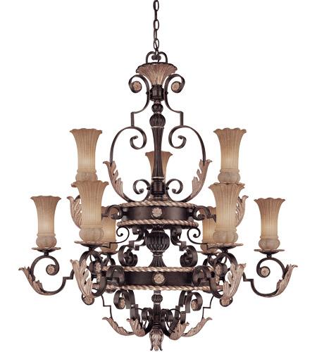 Savoy House Tuscan Iron Argiano 9 Light Chandelier In Distressed Bronze 1 1351