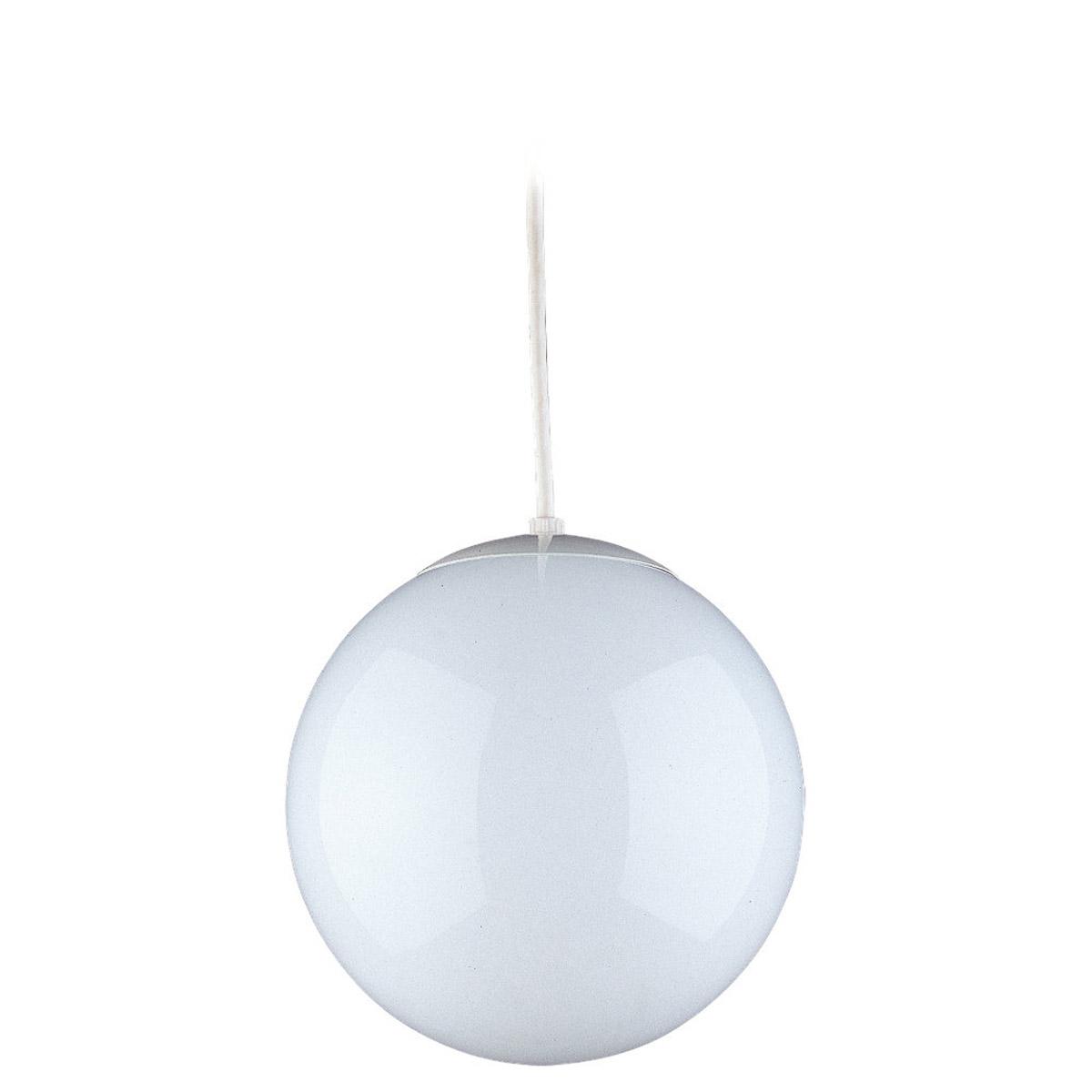 sea gull 6024 15 hanging globe 1 light 14 inch white pendant ceiling light