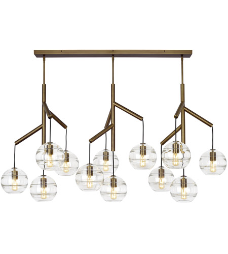 tech lighting 700sdnmpl3cr sean lavin sedona 25 inch aged brass chandelier ceiling light in incandescent clear glass