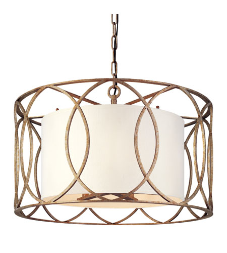 Troy Lighting F1285sg Sausalito 5 Light 25 Inch Silver Gold Chandelier Ceiling