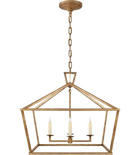 visual comfort chc2187gi e f chapman darlana 4 light 28 inch gilded iron foyer lantern ceiling light medium wide