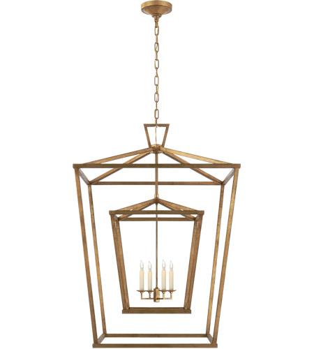 visual comfort chc2199gi e f chapman darlana 4 light 29 inch gilded iron foyer lantern ceiling light