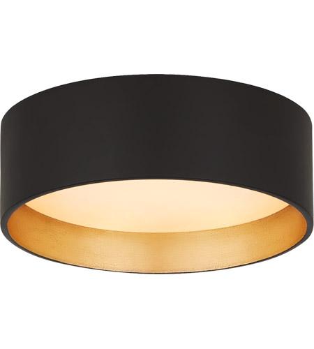 studio vc shaw led 5 inch matte black solitaire flush mount ceiling light