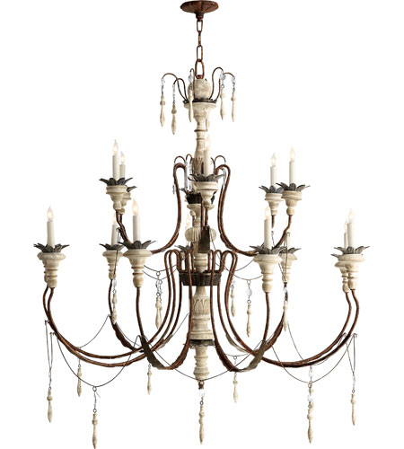 Visual Comfort Sk5001nr Ow Suzanne Kasler Percival 15 Light 47 Inch Natural Rust With Old