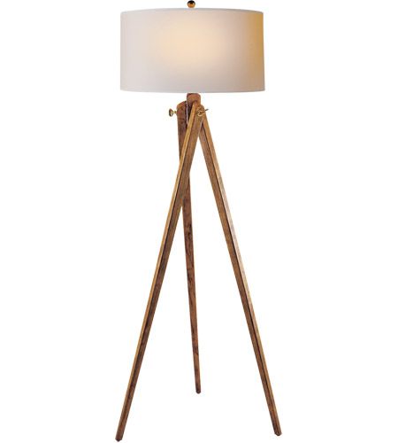 visual comfort sl1700fw np e f chapman tripod 61 inch 150 00 watt french wax on wood decorative floor lamp portable light