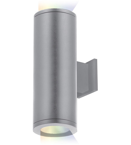 wac lighting ds wd05 ss cc gh tube architectural led 13 inch graphite outdoor wall sconce