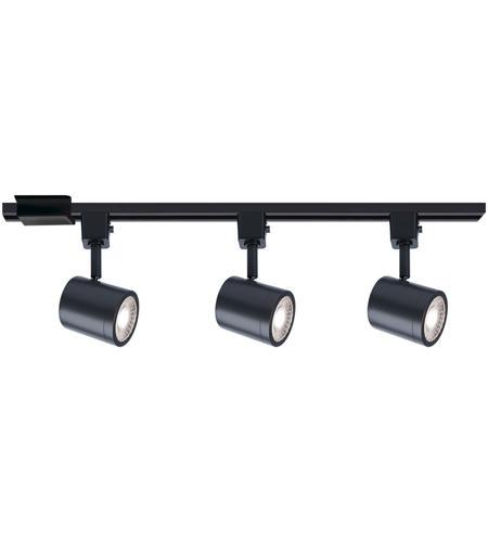 wac lighting h 8010 3 30 bk charge 3 light 120 black track lighting kit ceiling light
