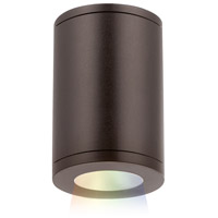 tube architectural led 5 inch bronze outdoor flush mount