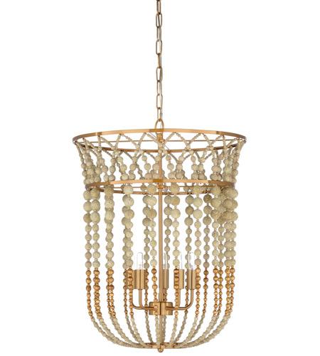 wildwood 67217 wildwood 5 light 20 inch textured white antique gold leaf chandelier ceiling light