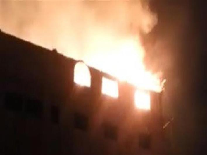 نتيجة بحث الصور عن حريق هائل في مبني كنيسه الانبا مقار شبرا