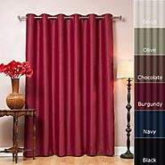 """Best Home Fashion Chocolate Wide Width Grommet Top Thermal Blackout Curtain 80""""W X 84""""L 1 Panel - BWW"""