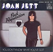 """2. """"Bad Reputation"""" - Joan Jett"""