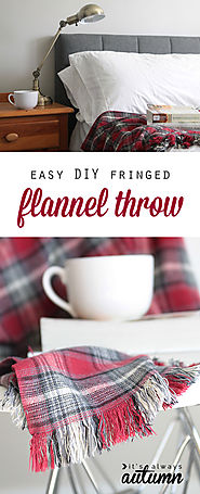 easy DIY fringed flannel throw {great gift idea!} - It's Always Autumn