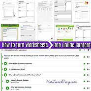 How to Turn Worksheets into Online Content | Hot Lunch Tray
