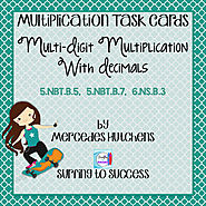 Multi-Digit Multiplication with Decimals Task Cards by Mercedes Hutchens