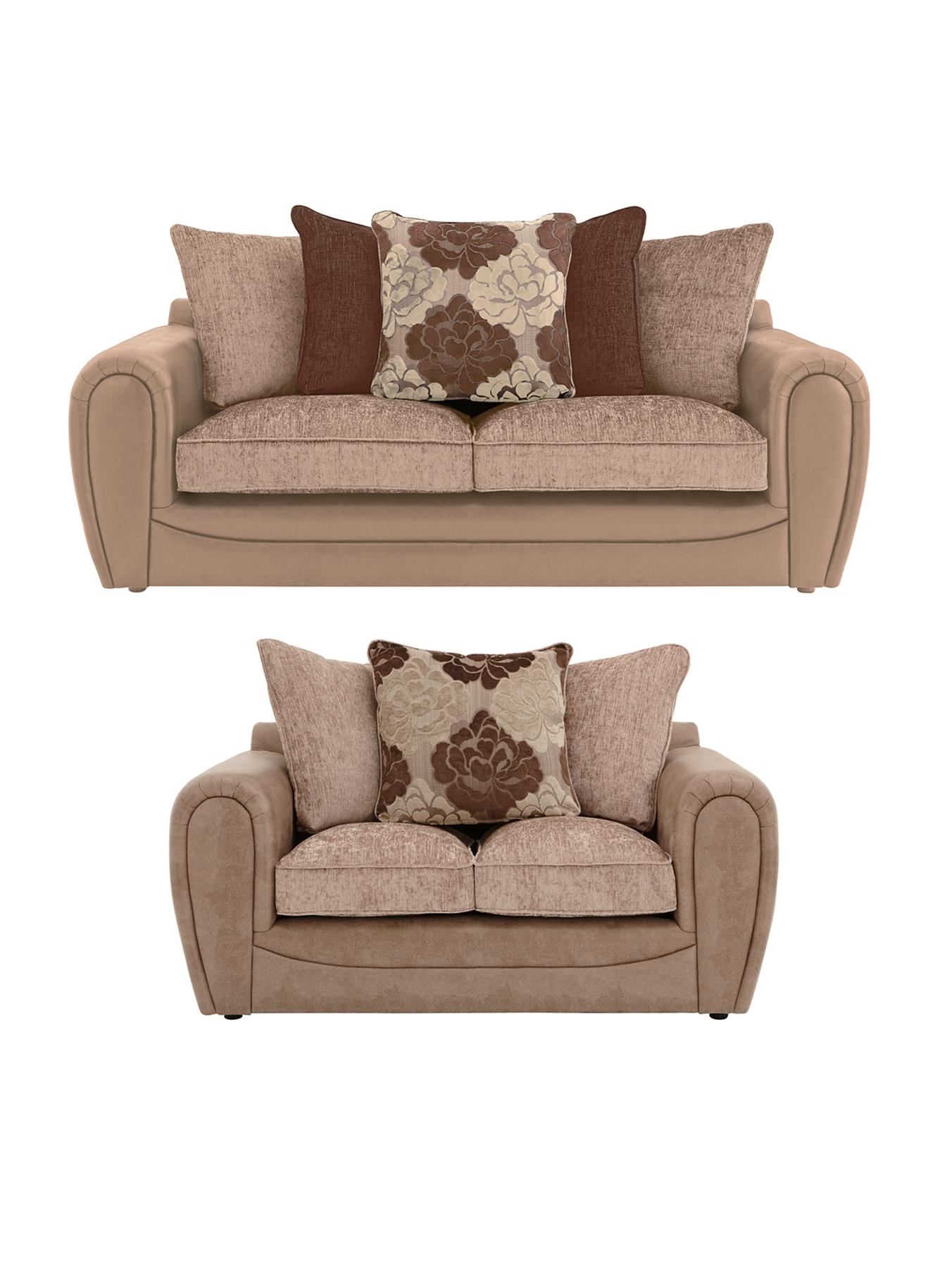 brown fabric sofas two seater living room www littlewoods com