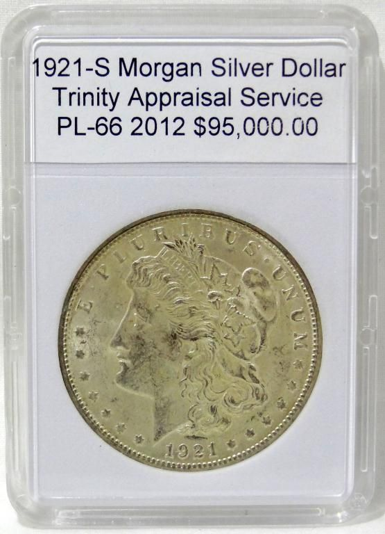 Morgan Appraisal Silver Dollar 1921