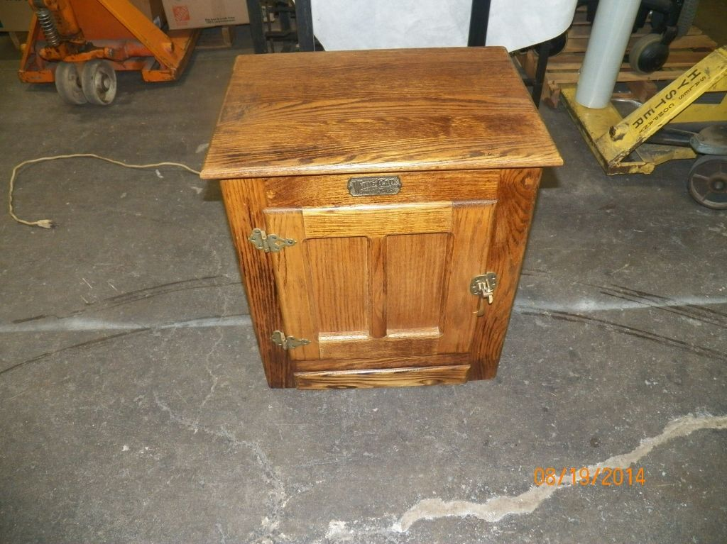 White Clad Oak Ice Box End Table Ice Box End Table Approx
