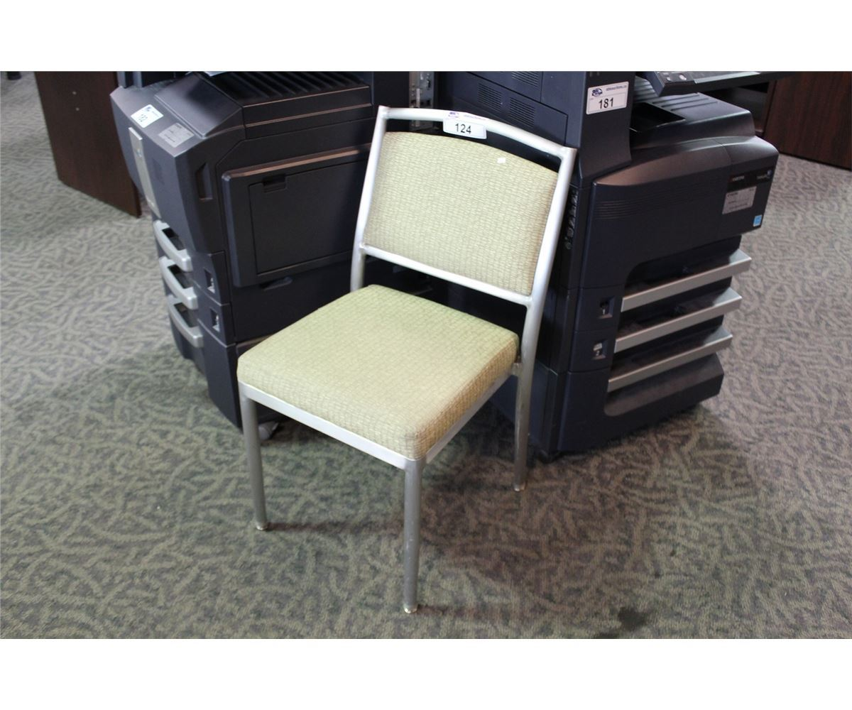 BEIGE HEAVY DUTY COMMERCIAL GRADE STACKING SIDE CHAIR