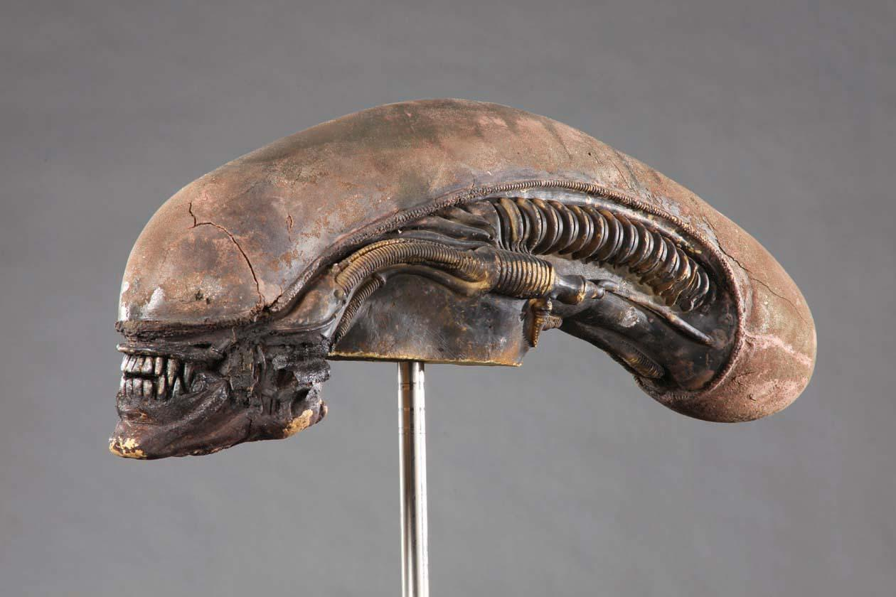 Original Stunt Alien Head From Alien With LOA Signed By Alien Creator H R Giger