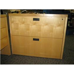 Ash Maple 2 Drawer Lateral File Cabinet Able Auctions
