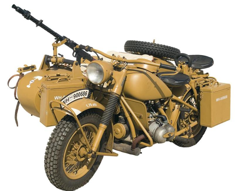 Image 1 Extremely Rare Wwii Military Bmw R75 Motorcycle And Sidecar