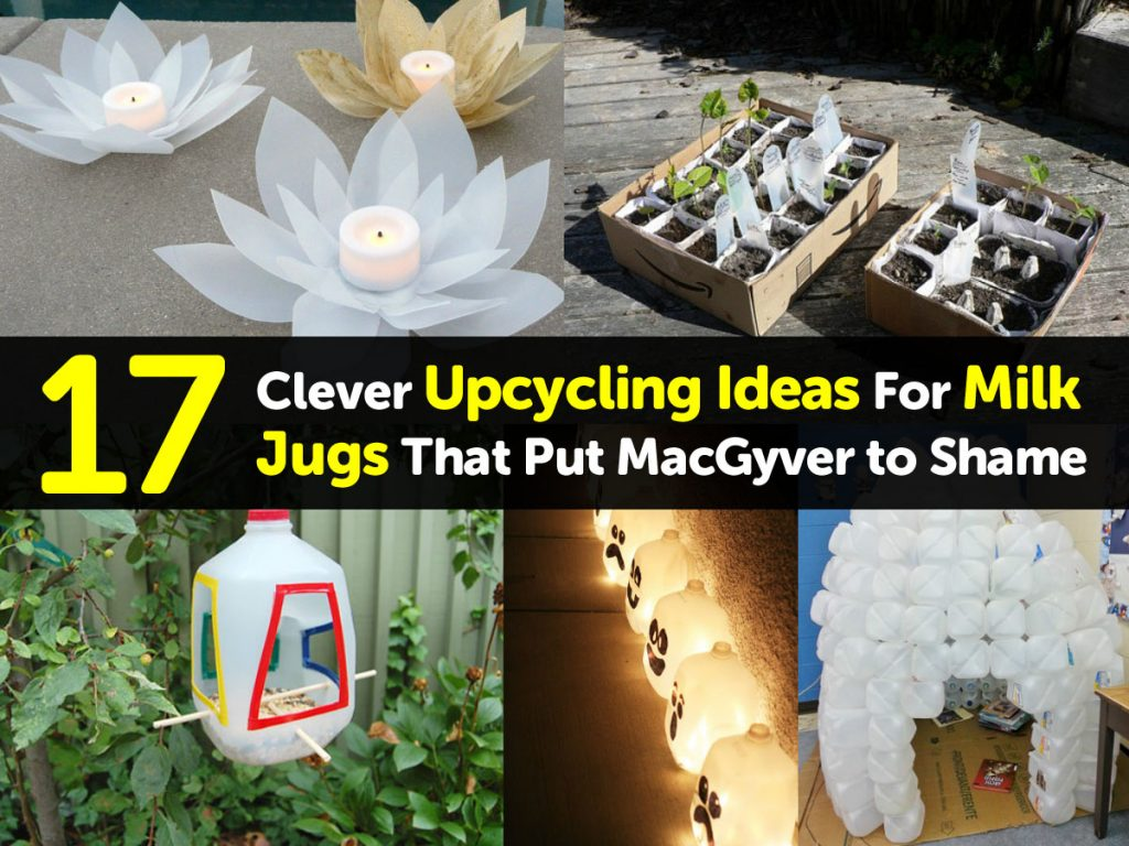 17 Clever Upcycling Ideas For Milk Jugs That Put Macgyver