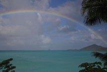 Regnbåge från vår balkong på Cocos Hotel, Antigua December 2013