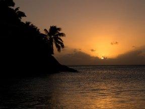 Solnedgång Antigua December 2013
