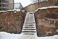 Trappa snö Göteborg