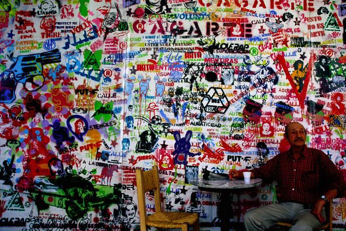 Graffiti in Centro Cultural Recoleta, Argentina.