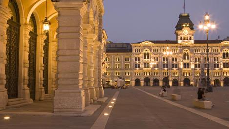 Palazzo Comunale City Hall on Piazza dell'Unita d'Italia Square.
