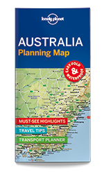 Australia Planning Map, 1st Edition Jun 2017 by Lonely Planet