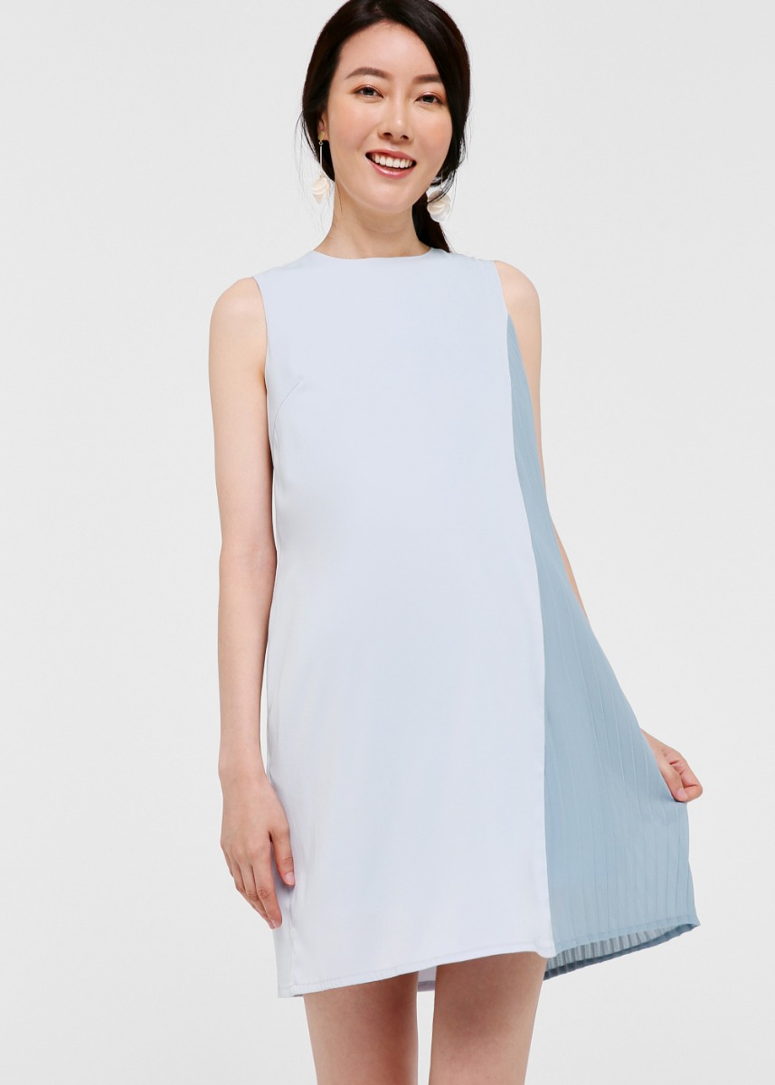 Swith Pleated Panel Tank Dress