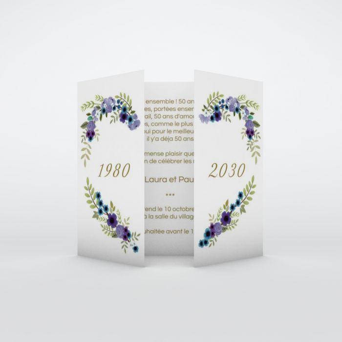 d invitation anniversaire de mariage