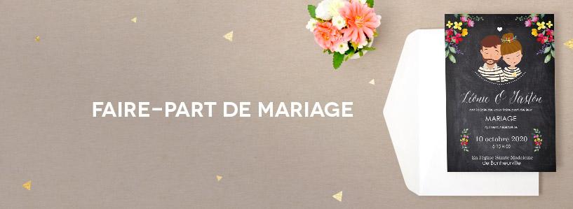 exemples de texte faire part mariage