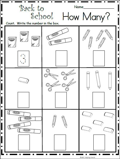 Core Math Kindergarten Common Worksheets