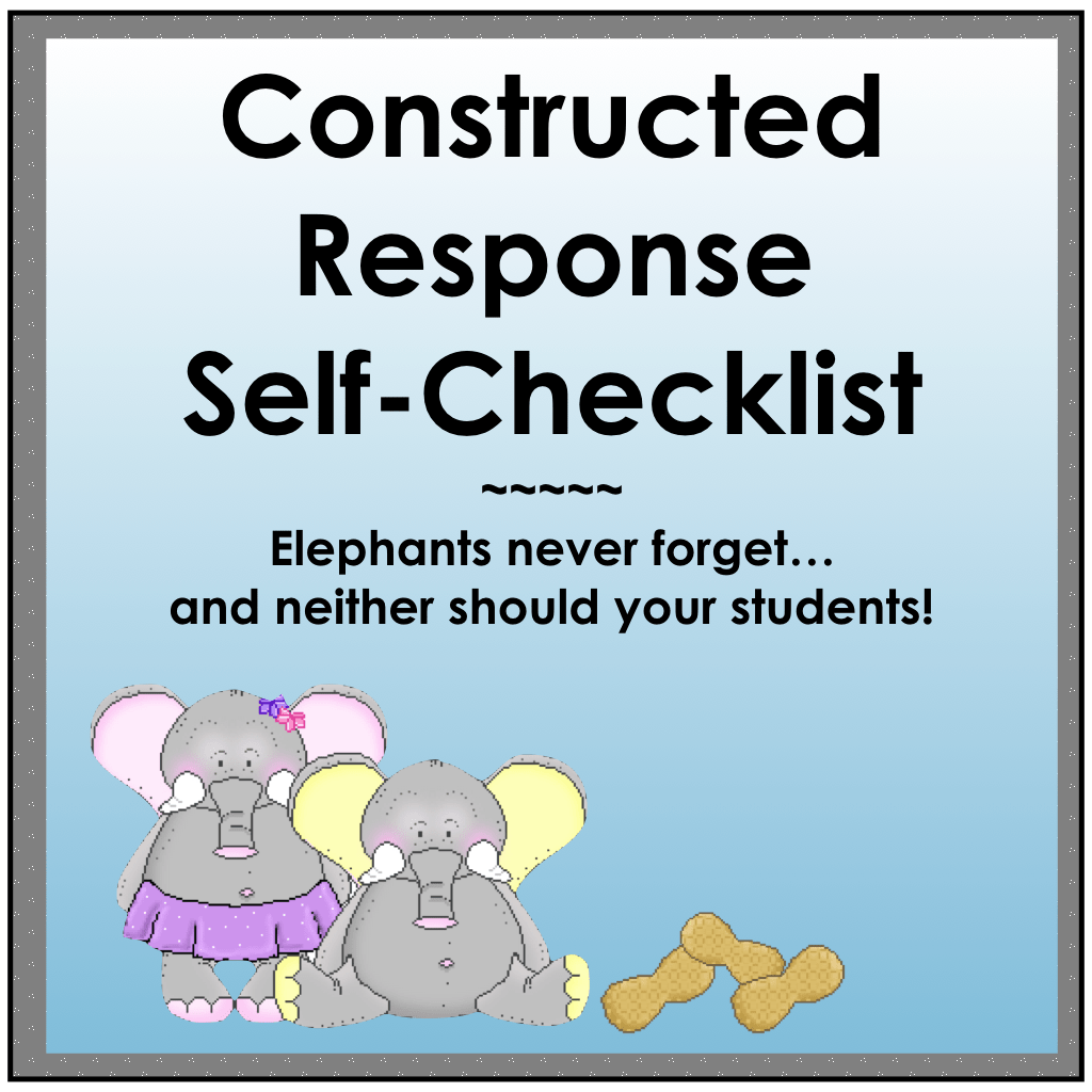 Constructed Response Student Self Check