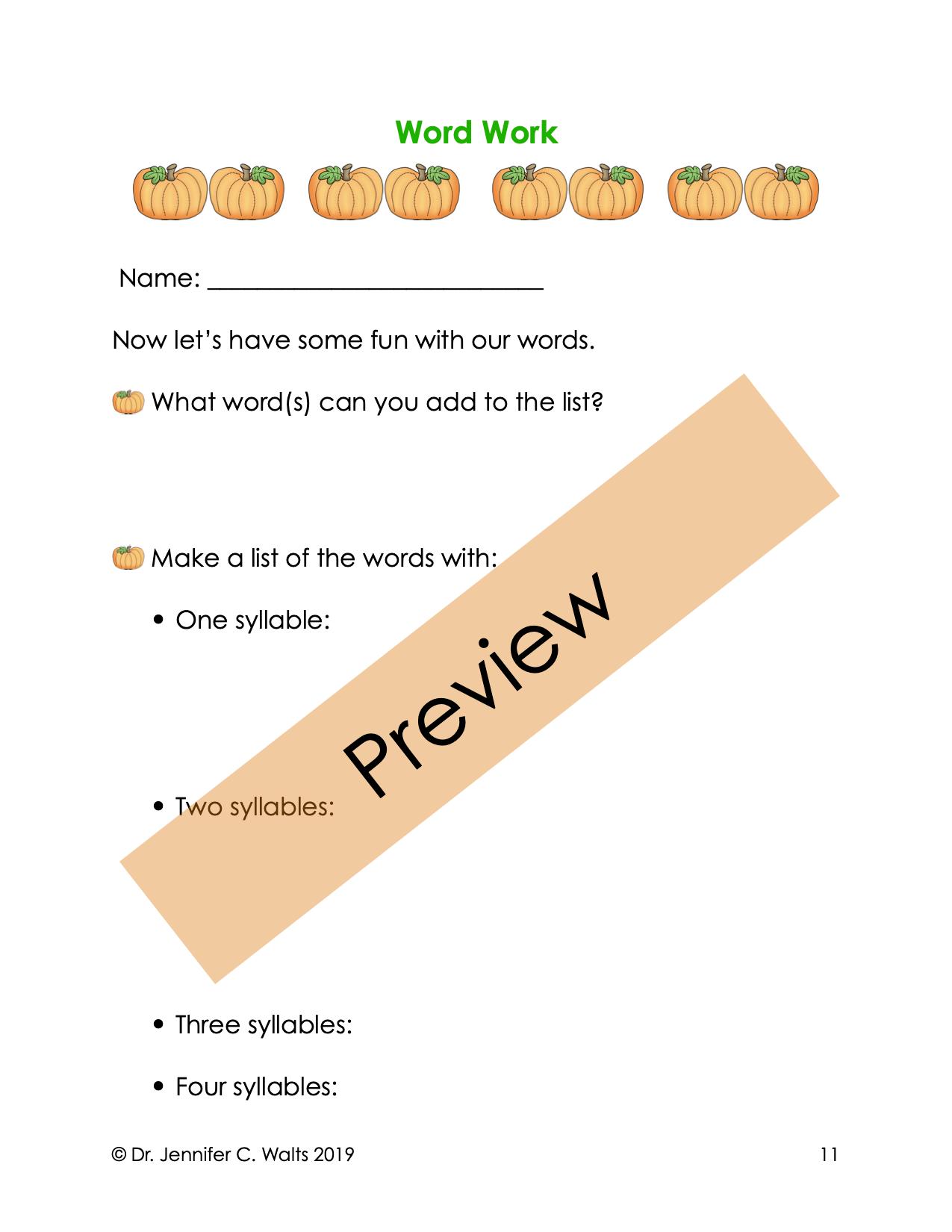 Autumn Unit At The Pumpkin Patch