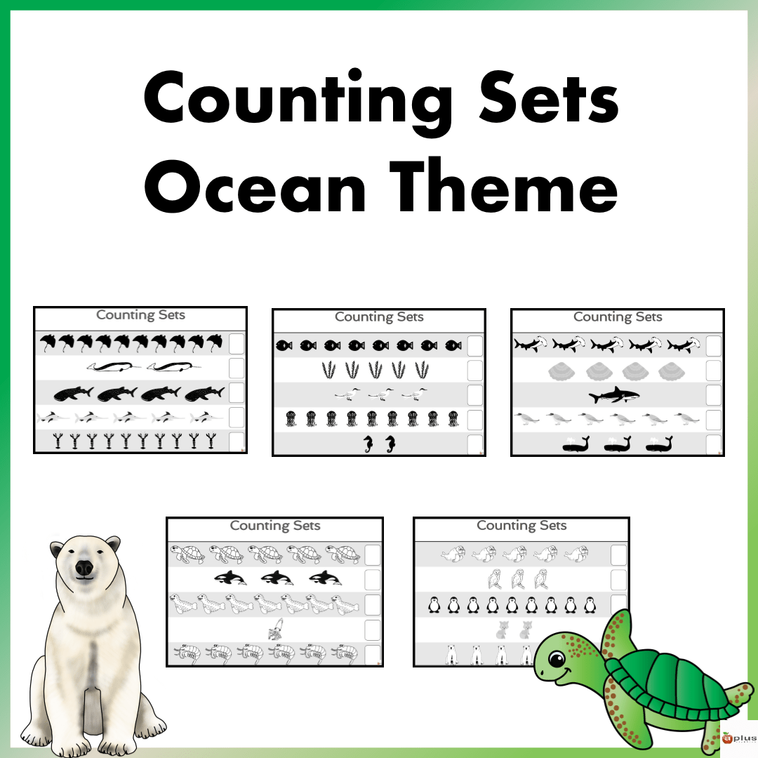 Counting Sets Practice Sheets Ocean Theme
