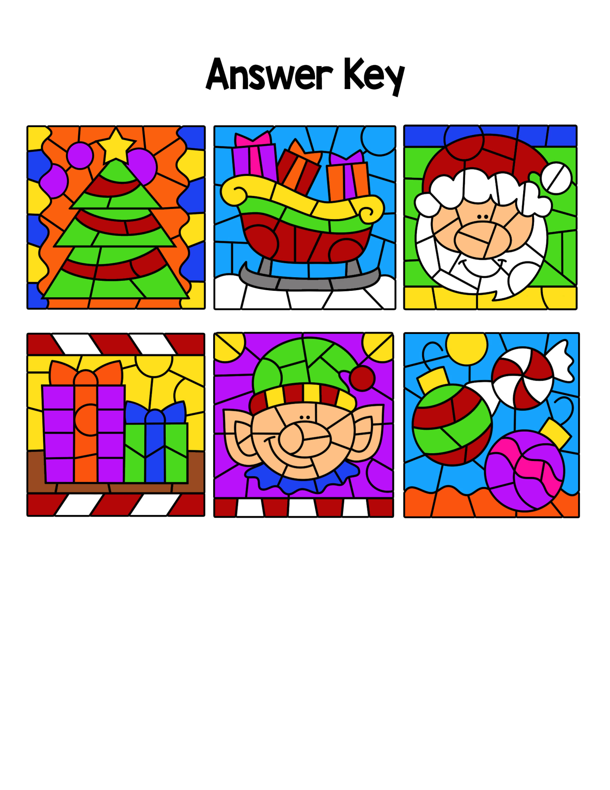 Christmas Color By Code Upper Lowercase Letters And