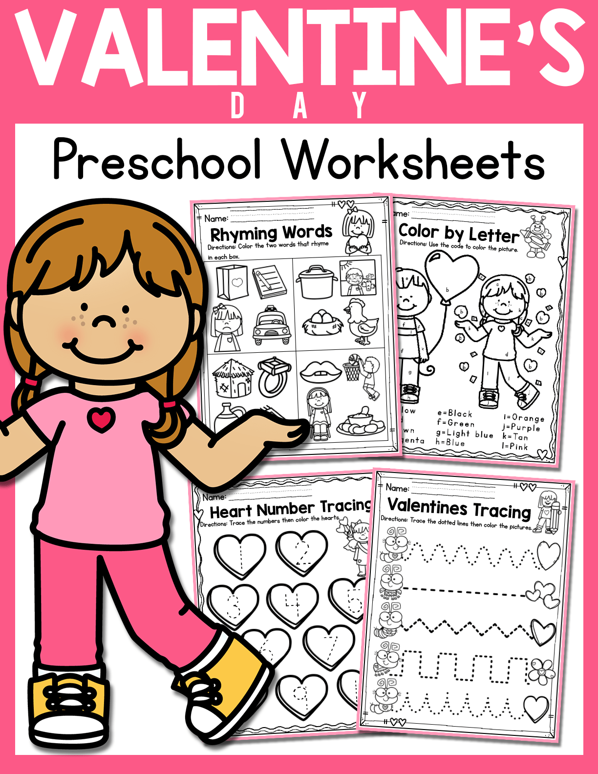 Valentine S Day Preschool Worksheets February