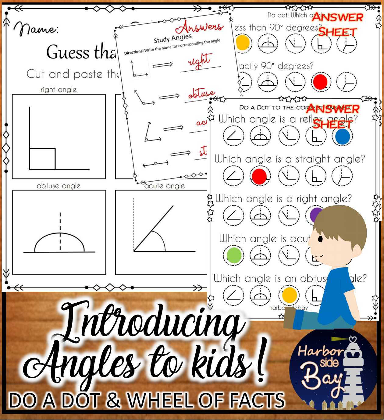 Introducing Angles To Kids Dot Markers Printable