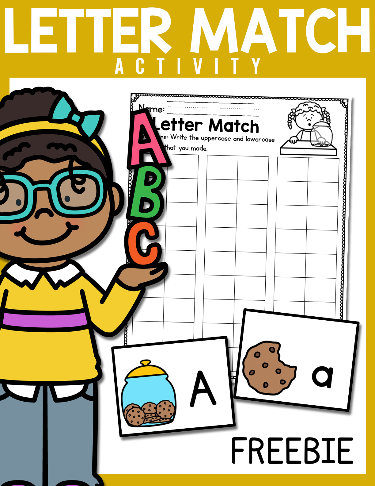 Matching Uppercase And Lowercase Letters Activity