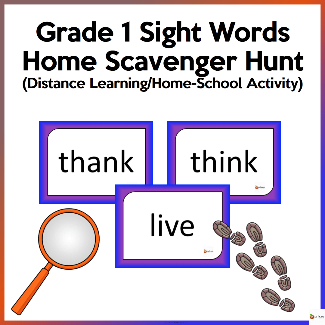 Distance Learning Grade 1 Dolch Sight Words Home Scavenger