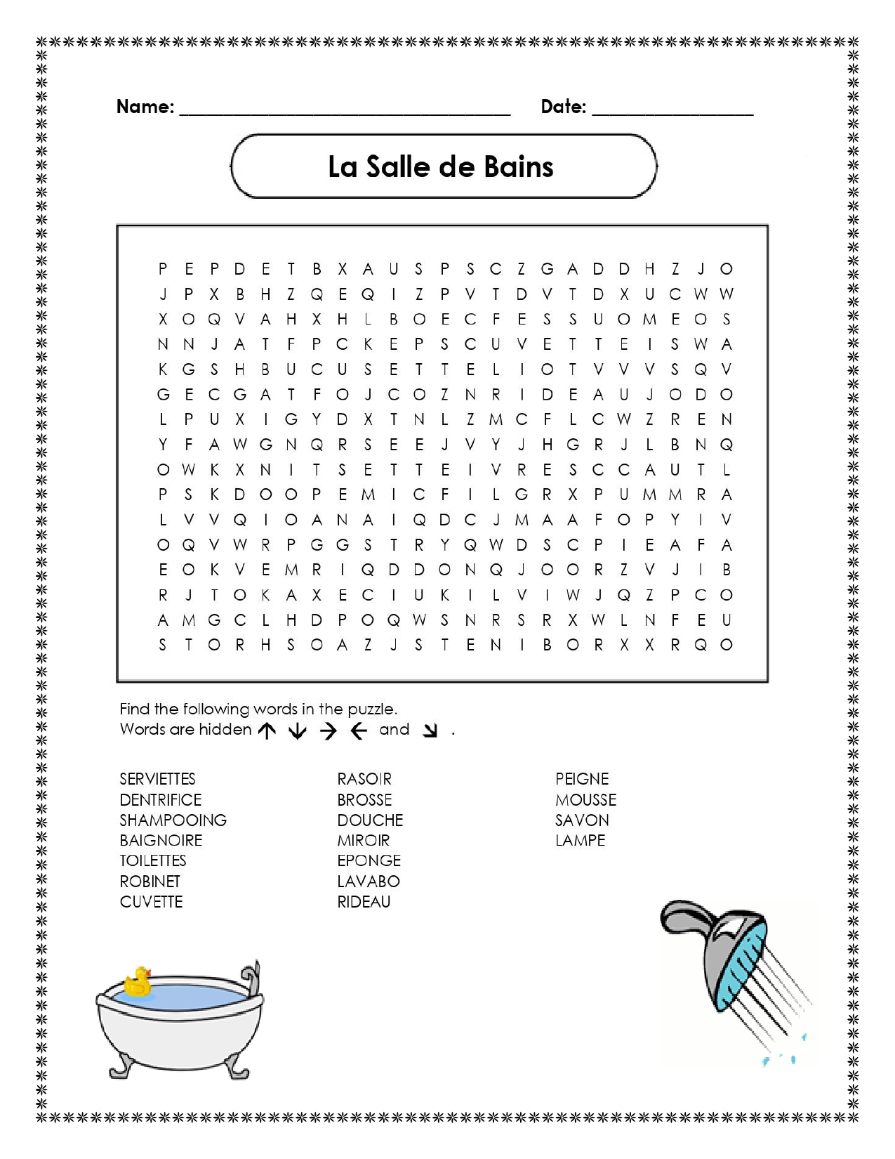 La Salle De Bains French Bathroom Distance Learning